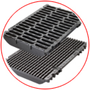 wide choice of grates